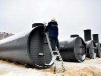 В г. Донской Тульской области построен водозаборный узел  с резервуарами чистой воды из полиэтилена