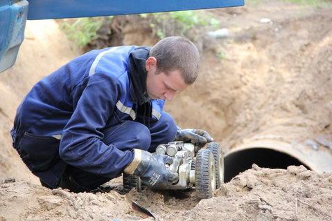 Водовод Гайва-Закамск Перми проверили с помощью робота телеинспекции