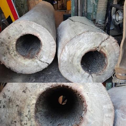 В Московской области обнаружены деревянные водопроводные трубы конца XIX века