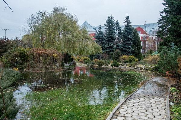 Ботанический сад в Перми затопило из-за некачественного ремонта водопровода подрядчиками