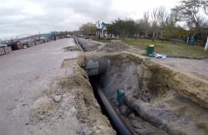 В Феодосии запустили новый канализационный коллектор
