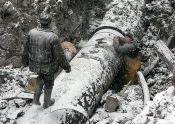 В Архангельске пробный пуск нового кольцевого водовода завершился неудачей