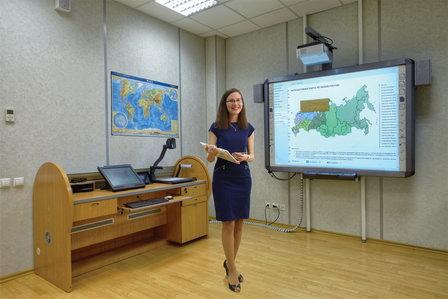 Учебные аудитории «Академии воды» в Санкт-Петербурге оснастили мультимедийными комплексами