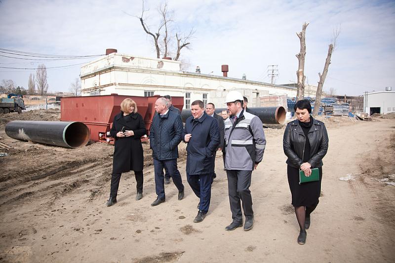 В Краснооктябрьском районе Волгограда завершается строительство водоочистных сооружений