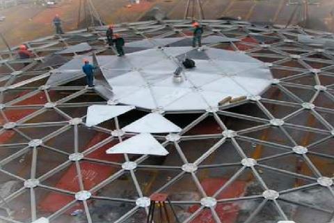 В Эр-Рияде на резервуаре с питьевой водой построена крупнейшая в мире купольная крыша