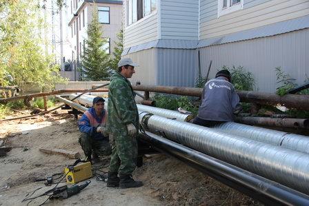 «Салехардэнерго» устанавливает морозоустойчивые сети теплоснабжения и водоотведения