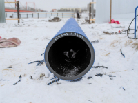 При ремонте дюкера в Архангельске  применили технологию холодного обжатия