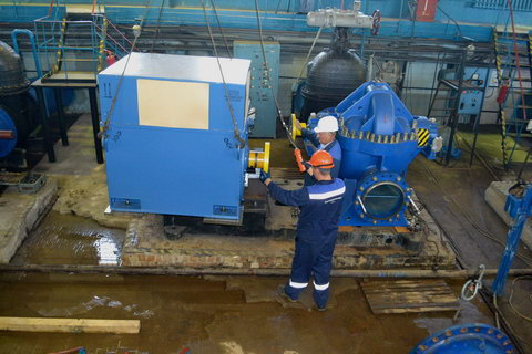Тверецкий водозабор специалисты «Тверь Водоканала» оснащают новым производительным оборудованием