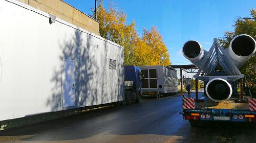 На объекты строительства блок-модульных котельных в Великом Новгороде доставлены комплектующие.