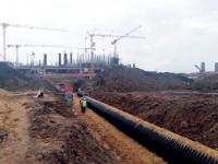 При прокладке сетей водоснабжения и водоотведения в индустриальном парке «Узловая» использованы  инновационные трубы