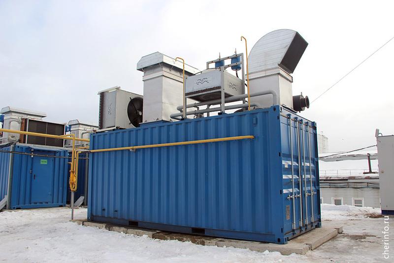 На очистных сооружениях  «Водоканала» Череповца внедрили газопоршневые установки для генерации электроэнергии