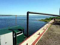 В Лесосибирске (Красноярский край) построили плавучую насосную станцию
