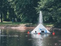 В пруду г. Кингисеппа заработала уникальная система очистки воды Biolight Oloid Pyramide