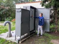 В поселке Подольской МИС в Подмосковье заработала новая канализационная насосная станция